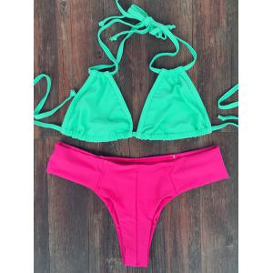 Trendy Lace-Up High Cut Women's Bikini Set
