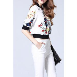 Floral Ribbed Jacket -