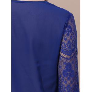 Women's Stylish Laced Voile Spliced Asymmetrical T-Shirt -