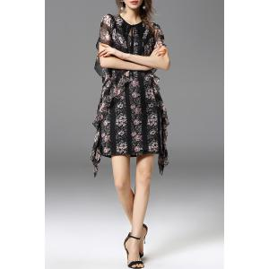 Ruffled Asymmetric Dress -