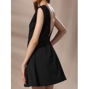 Low Cut Backless Mini A Line Dress -
