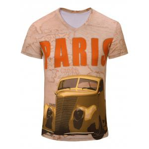 Casual Car Printed Short Sleeves T-Shirt For Men