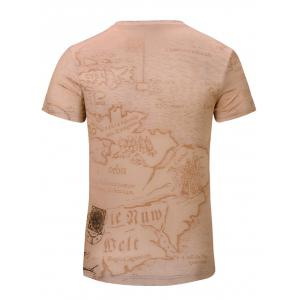 Casual Car Printed Short Sleeves T-Shirt For Men - COMPLEXION S