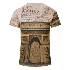 Casual Letters Printed Short Sleeves T-Shirt For Men -