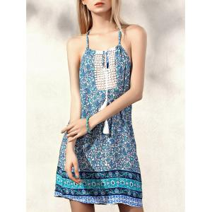 Spaghetti Strap Tiny Floral Summer Dress