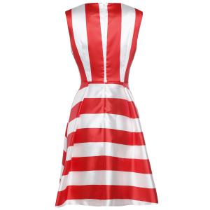 Waisted Corset Striped Sequined Dress -