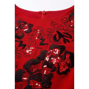 Straight Sequin Embroidered Dress -