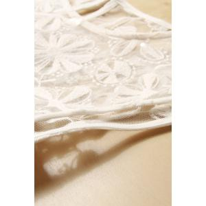 Lace Bodice Irregular White Dress -