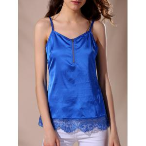 Casual Strappy Lace Splicing Top For Women
