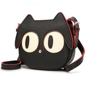 Cute Cat Shape and Black Design Crossbody Bag For Women -