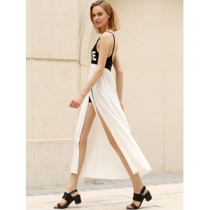 Casual Backless Slit Swing Cami Dress -