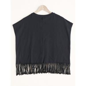Sunny Graphic Fringed Tank Top -