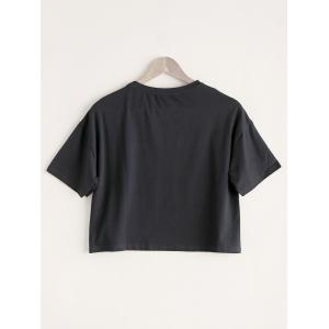 Casual Round Neck Letter Print Slimming Women's T-Shirt -