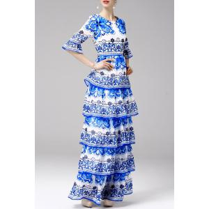 Printed Tiered Maxi Dress -