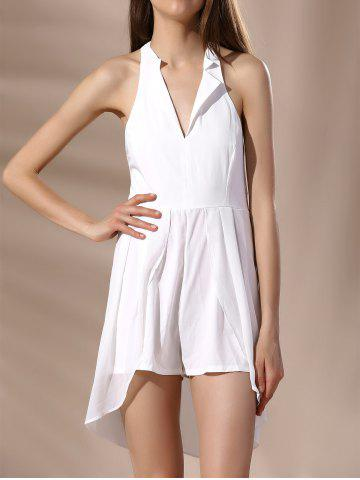 Halter High Low Hem Backless Sleeveless Women s Romper