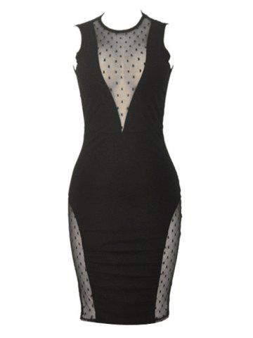 Affordable Sleeveless See Through Bodycon Club Dress