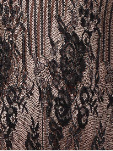 New Embroidery Lace Cover Ups For Swimwear - S BLACK Mobile