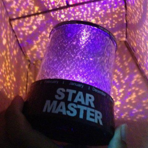 Fancy Starry Star Master Gift Led Night Light Unique Design Projector Lamp Multi Colors - COLORMIX  Mobile