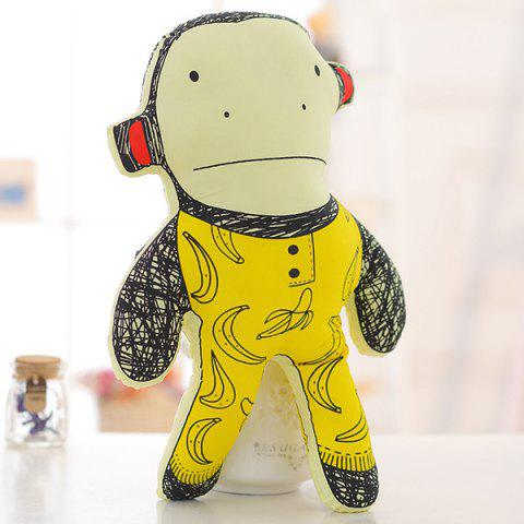Unique 40CM Super Soft Pillow Doll Cartoon Monkey Shape Children's Plush Toy -   Mobile