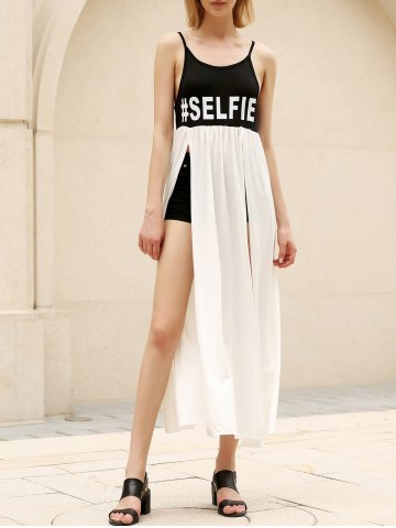 Shops Casual Backless Slit Swing Cami Dress