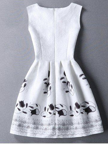 Sweet Round Collar Sleeveless Floral Print  Women's Dress от Rosegal.com INT