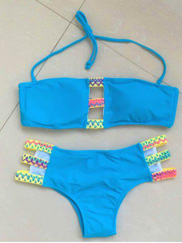 New Alluring Halter Bandage Design Women's Bikini Set