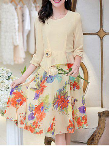 Store Knee Length Floral Modest Dress
