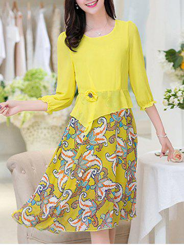 Best Floral Printed Chiffon Dress