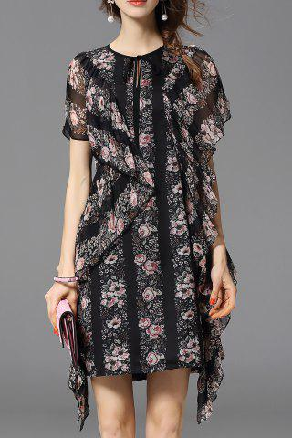 Cheap Ruffled Asymmetric Dress