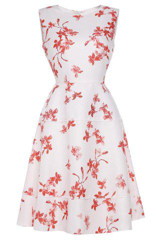 Outfit Waisted Corset Floral Print Dress
