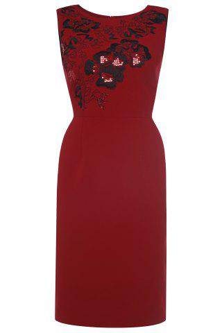Buy Straight Sequin Embroidered Dress