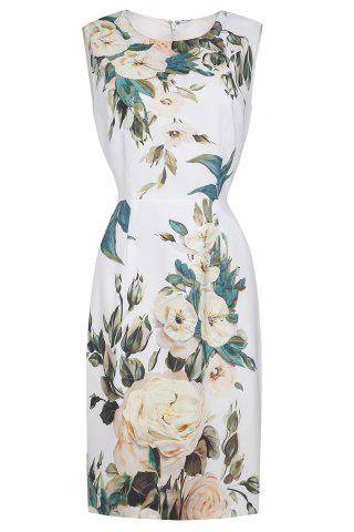 Fancy Straight Flower Print Dress