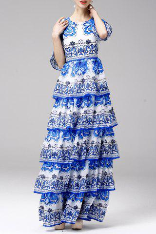 Fancy Printed Tiered Maxi Dress