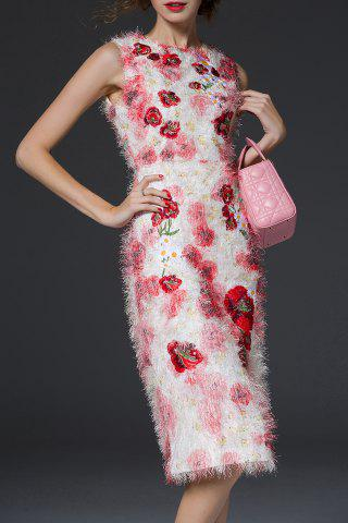 Best Fuzzy Floral Sheath Dress