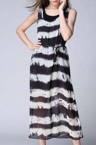 Discount Cami Dress and Striped Outer Dress Twinset