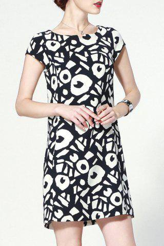 Unique Straight Geometric Print Dress