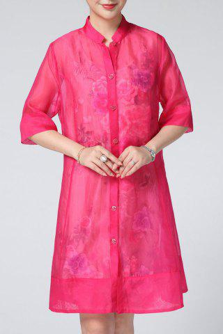 Sale Scoop Neck Floral Embroidered Sundress and Blouse