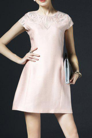 Fancy Embroidered Mini Flare Dress