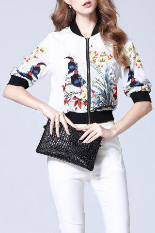Fancy Floral Ribbed Jacket