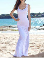 Sleeveless Bodycon Fishtail Maxi Tank Dress