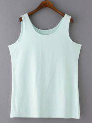 Casual Plus Size Scoop Neck Solid Color Slimming Women's Tank Top