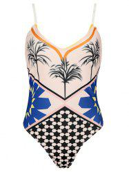 Alluring Spaghetti Strap Printed Women's One-Piece Swimwear