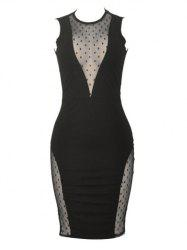 Sleeveless See Through Bodycon Club Dress