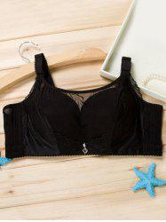 Padded Full Cup Bra with Pendant - BLACK