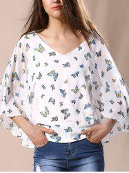 Elegant Butterfly Printing  Blouse
