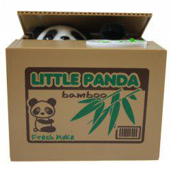 New Style Lovely Panda Money Box Automatic Stole Coin -