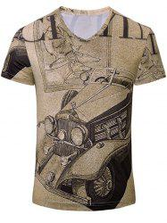 Trendy Car Printed Short Sleeves T-Shirt For Men