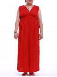 Plus Size Empire Waist Maxi Dress