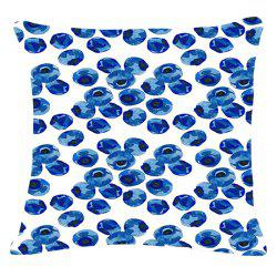 Chic Fruits Blueberry Pattern Square Shape Flax Pillowcase (Without Pillow Inner) -