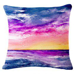 Fashion Sunrise Landscape Oil Painting Pattern Square Shape Pillowcase (Without Pillow Inner) -